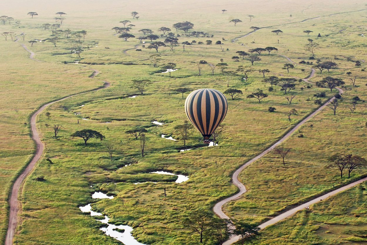 air balloon tanzania